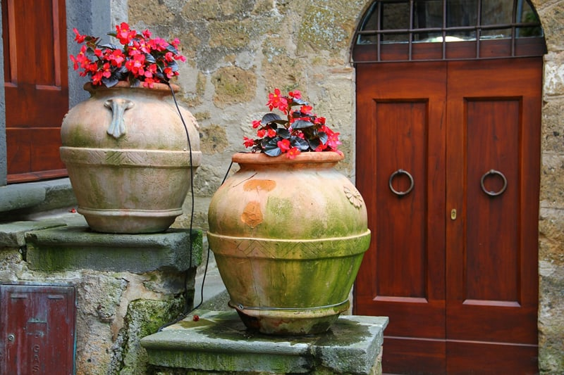 door flower pot