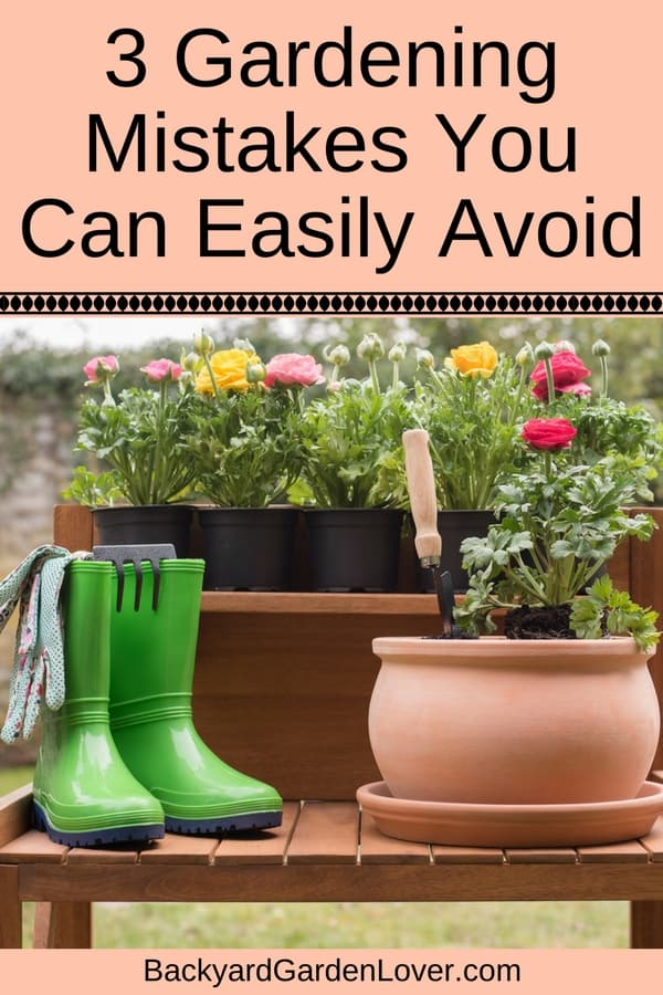 Every beginner gardener makes mistakes that sometimes cost them a lot of heartache. Here are 3 common gardening mistakes you can easily avoid, so that you can enjoy more of your garden with less work.