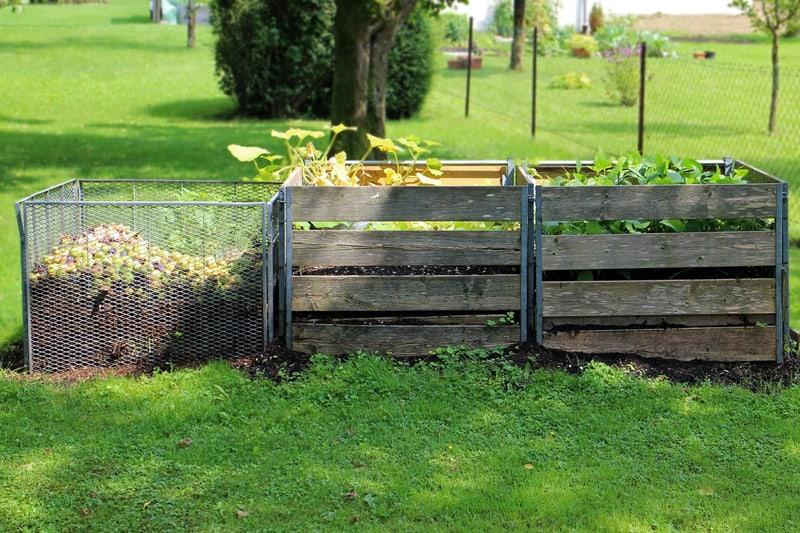 composting bins made of wood