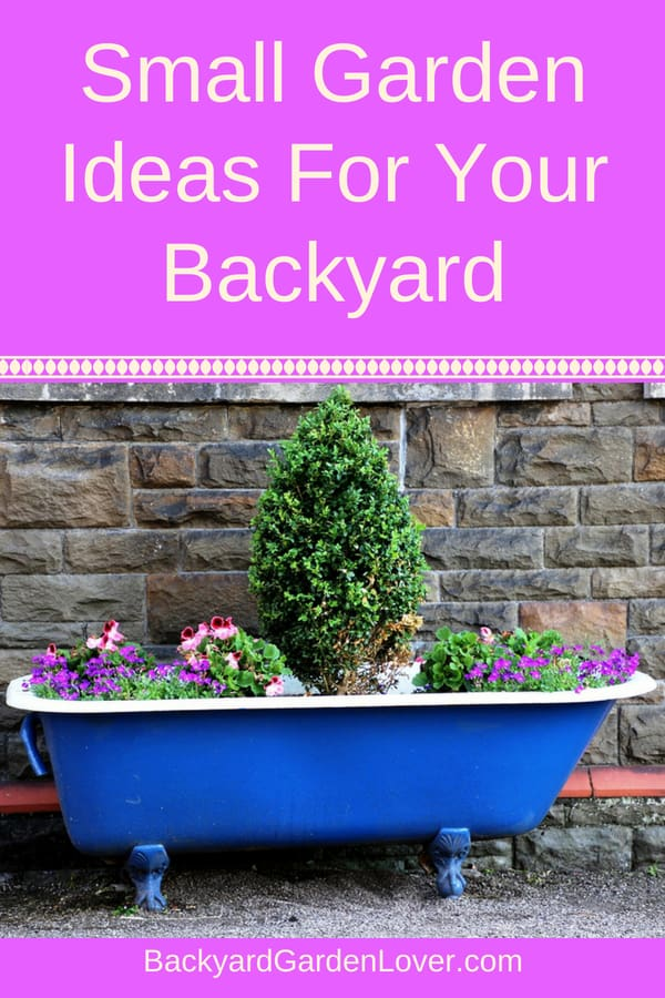 Are you craving a garden of your own, but don't have enough space? Here are some small garden design ideas that will help you grow some veggies and flowers in your backyard, front yard, side yard, balcony or patio. Turn any small corner into a low maintenance, no grass, haven for yourself.