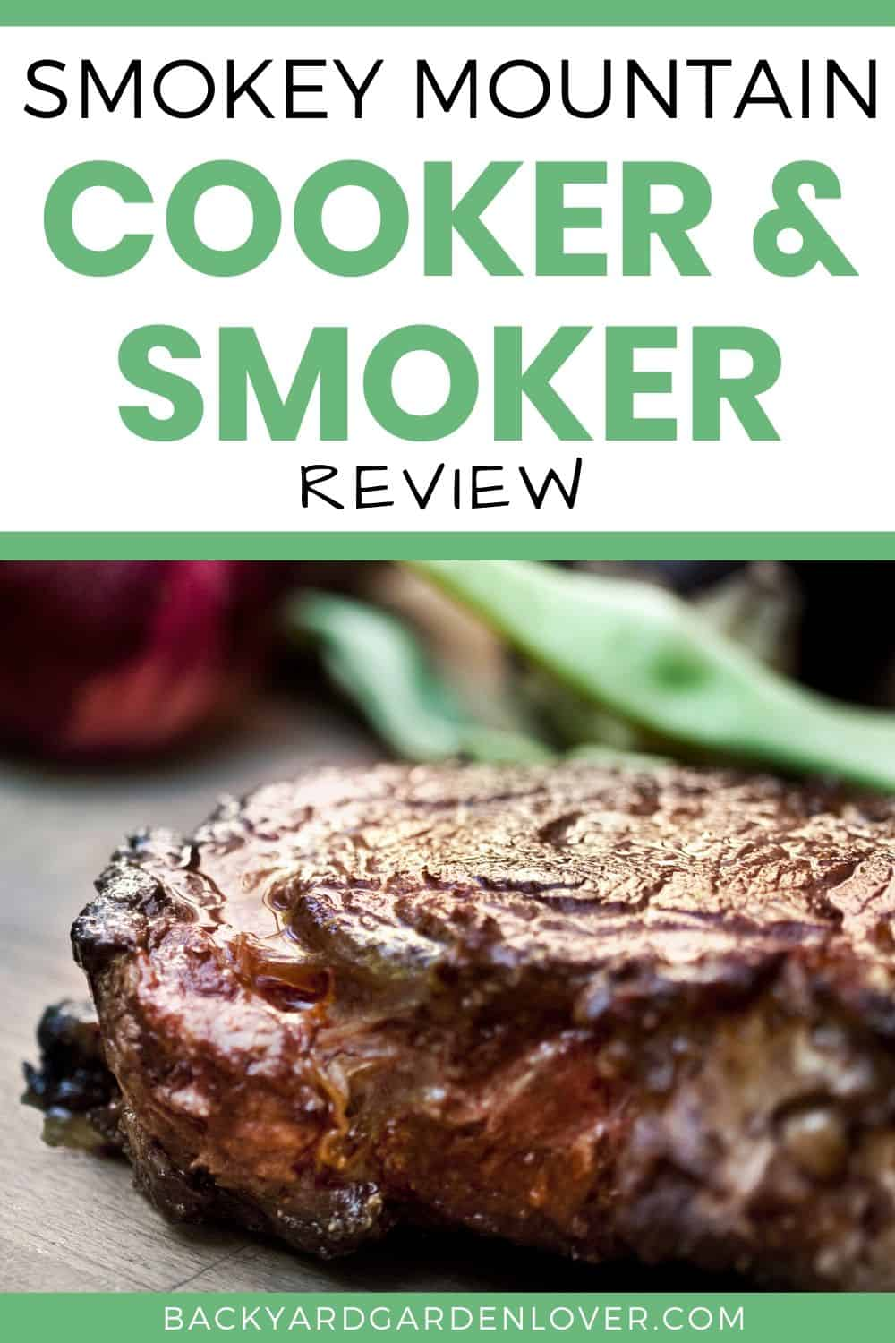 Smokey Mountain cooker and smoker review - Pinterest image