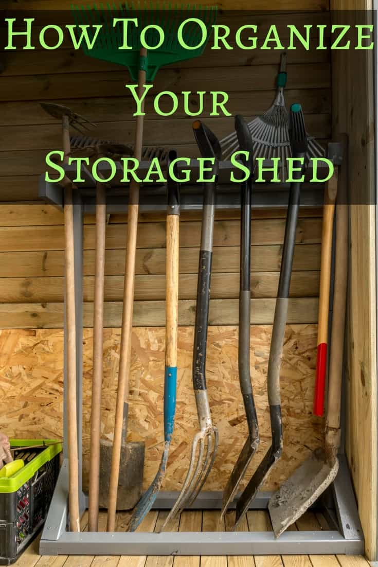 Learn how to organize a storage shed in just a few easy steps