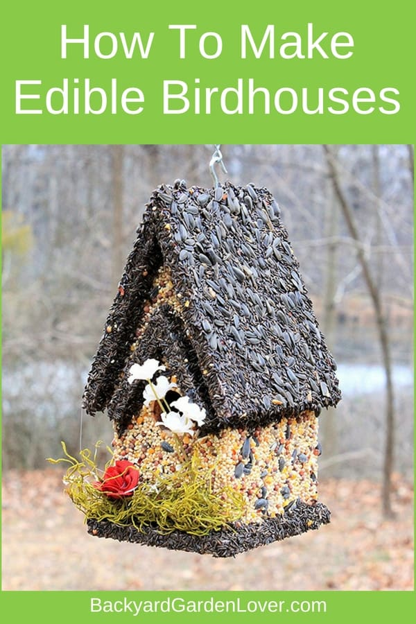 Here's how to make edible birdhouses for all kinds of birds. You can make your own DIY edible bird houses with seeds, nuts, raisings, graham crackers and peanut butter. Then watch your feathered friends enjoy a nice meal and delight in seeing them.