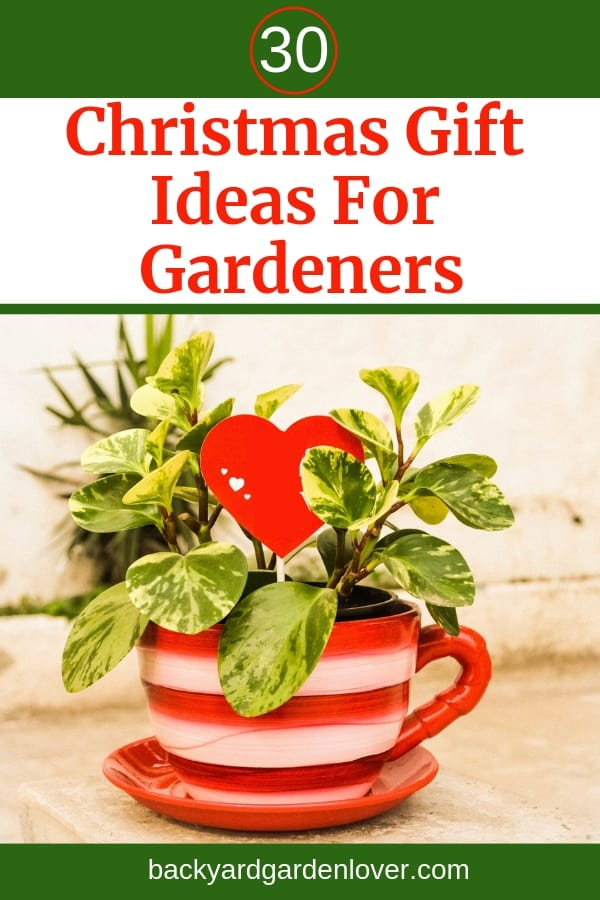 Stop fretting about gift buying for your gardener friends. These 30 Christmas gift ideas for gardeners will give you inspiration for gifts for any gardener in your life. #gardengifts #gardenersgifts #giftideas #gifts #Christmasgifts #giftgiving #christmaspresents