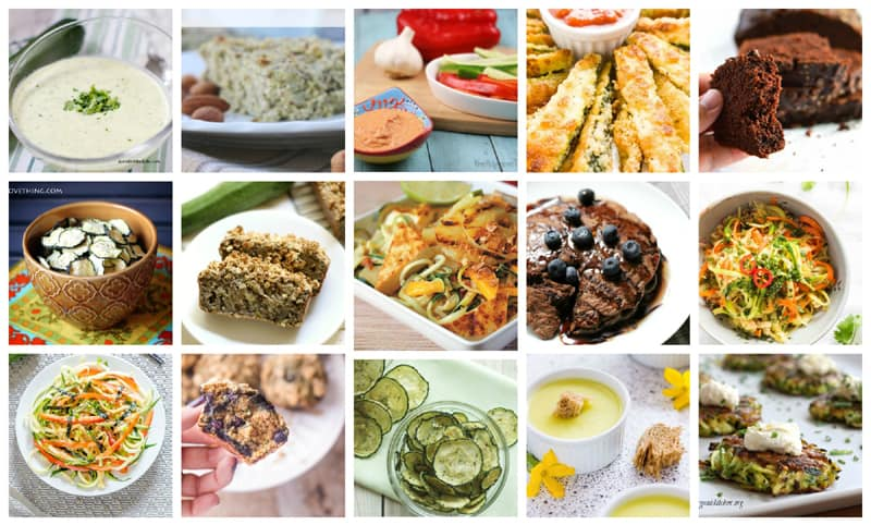 Collage of delicious zucchini recipes