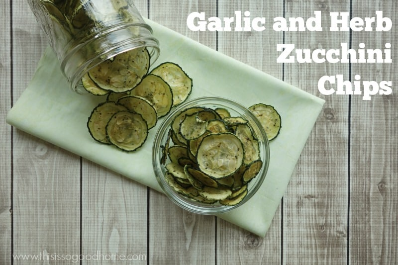 Garlic and Herb Zucchini Chips