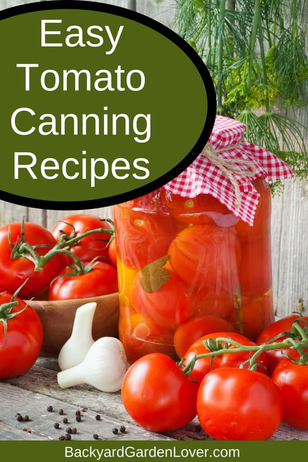 Can't keep up with your garden's production of tomatoes? Try one of these easy tomato canning recipes: pasta sauces, stewed cherry tomatoes, green tomato relish, and more. Then make healthy and simple dinners in just minutes. #tomatoes #cherrytomatoes #canning #preserveharvest #harvest #organic #recipes