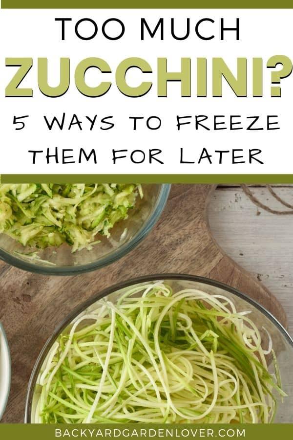 5 ways to freeze zucchini
