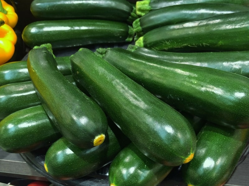 Beautiful green zucchini