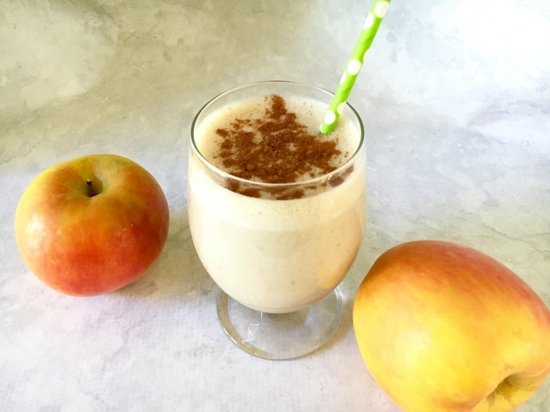 Healthy apple cinnamon protein smoothie