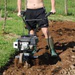 digging garden plot