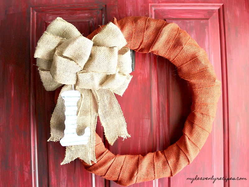 10 minute fall wreath