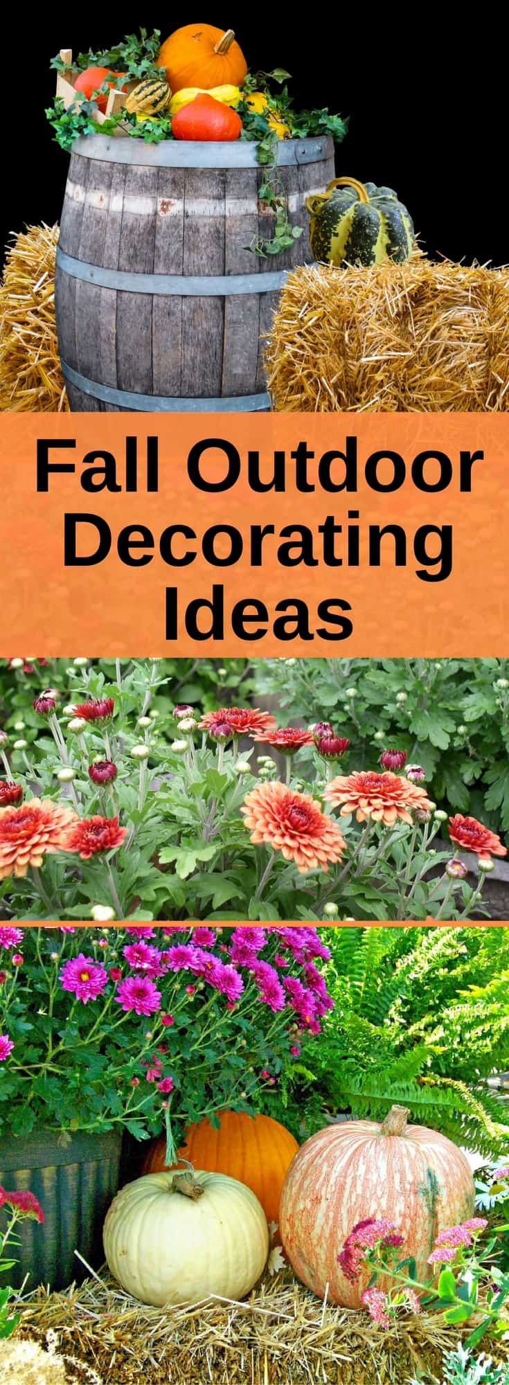 Cheer up your outdoors with these fall outdoor decorating ideas #outdoordecorations #fall #autumn
