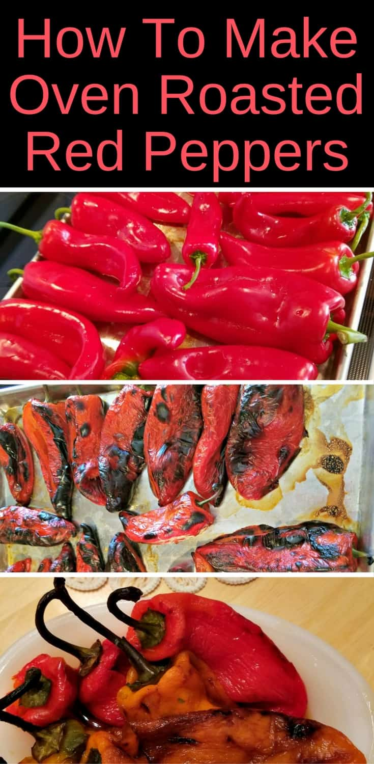 Here's how to make mouthwatering oven roasted red peppers to enjoy as a side dish or freeze for winter. #redpeppers #roastedpepper #yummyfood