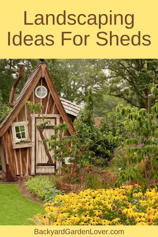 Create a beautiful flowers garden around your storage shed. I gathered lots of landscaping ideas for sheds: flower beds, mini gardens, country settings, winding paths, and lots more.