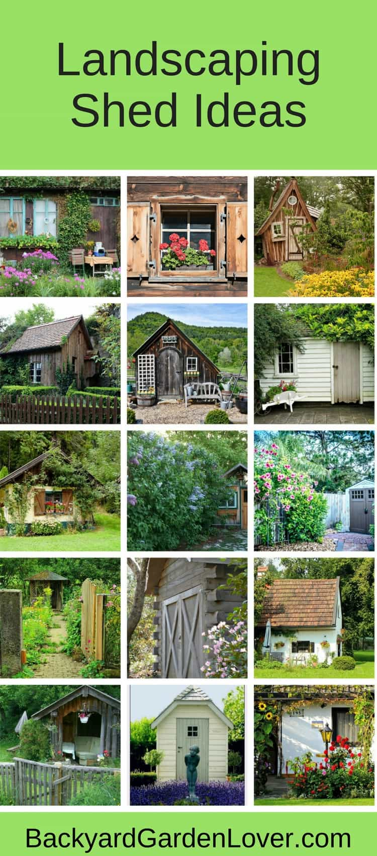 Find ideas and inspiration for landscaping around your shed. There's an idea for everyone ;)