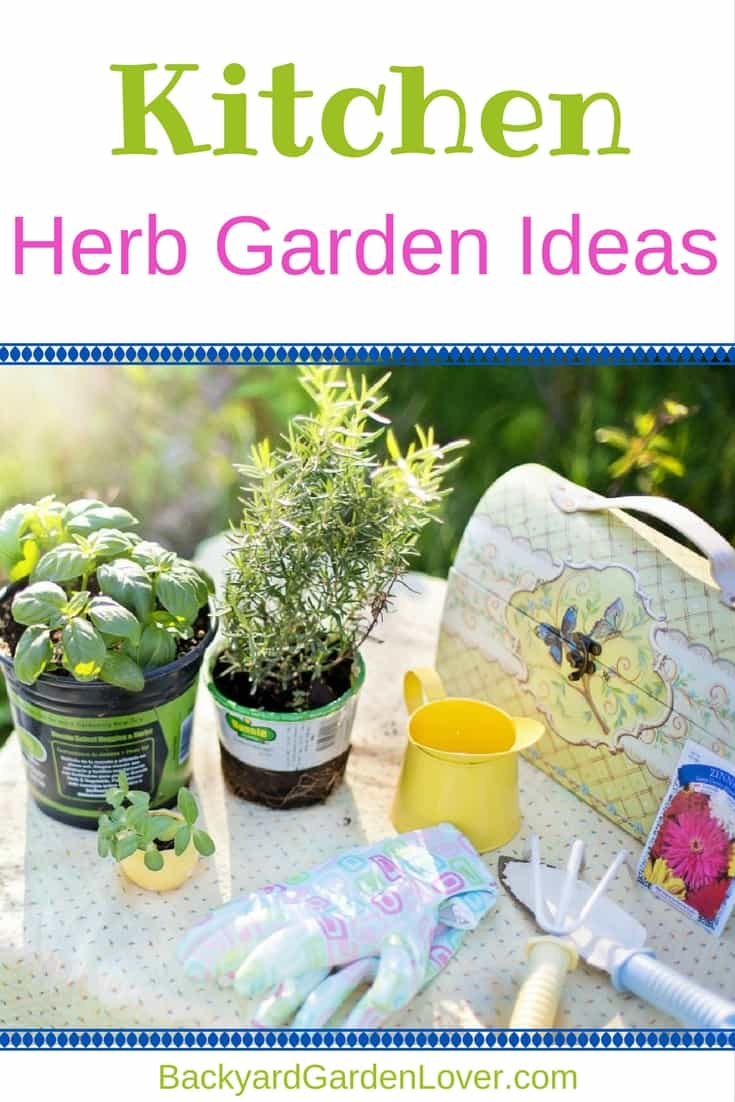Here are just a few kitchen herb garden ideas to inspire you to create your own herb garden. #herbs #garden #organic #kitchen