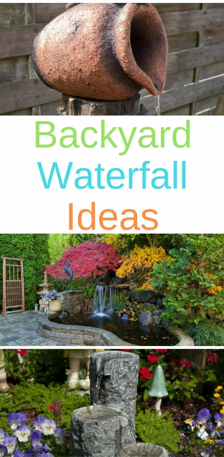 Create a relaxing corner in your backyard with one of these garden waterfall ideas