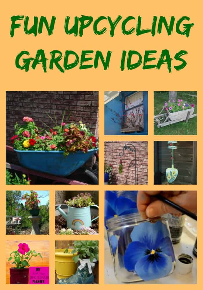 Fun upcycling garden ideas