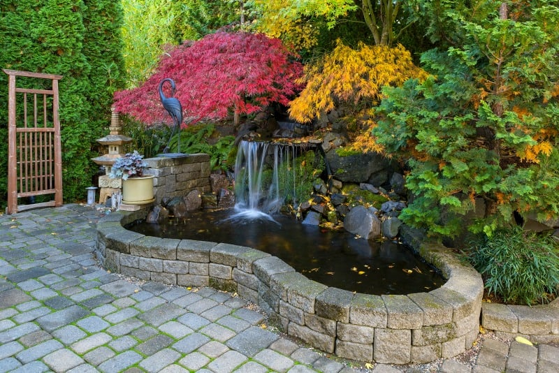 Backyard waterfall ideas for Stone garden waterfall
