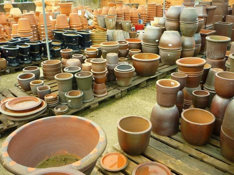 Ceramic gardening containers