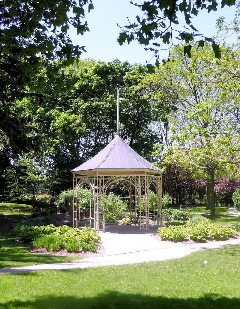 Sleek metal gazebo