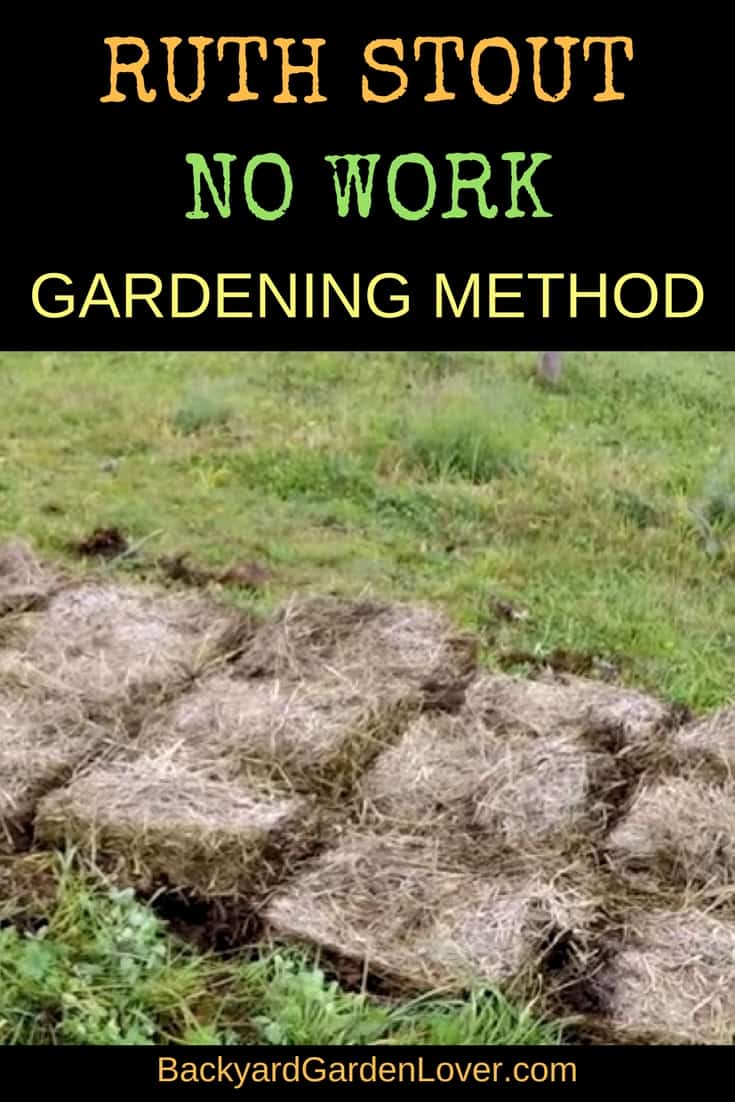 If you're tired of the usual back breaking gardening methods, give Ruth's no work gardening a try. You'll be amazed!