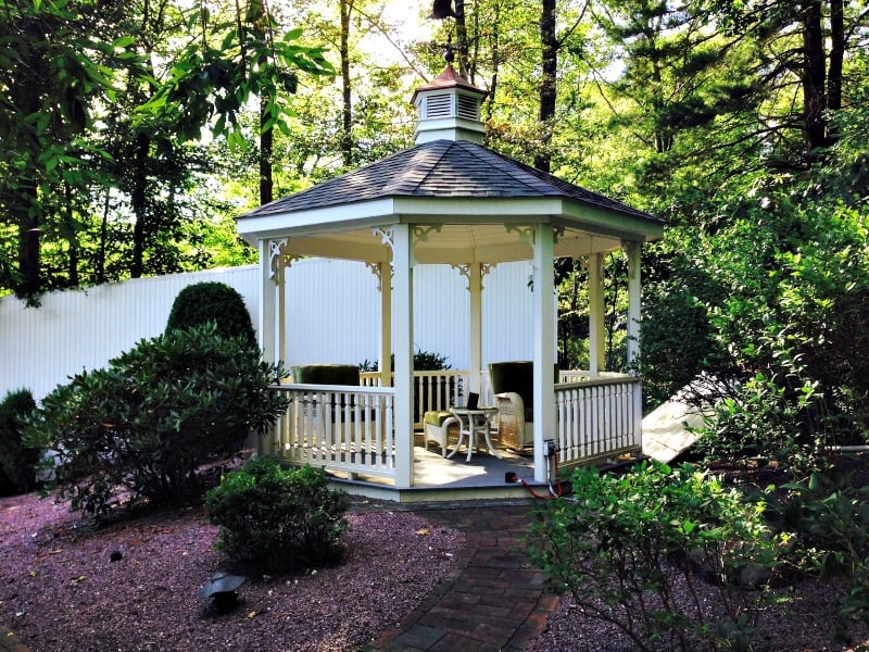 Secluded gazebo
