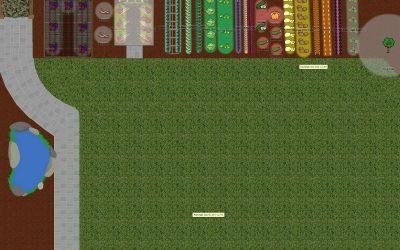 Plans for a small border garden