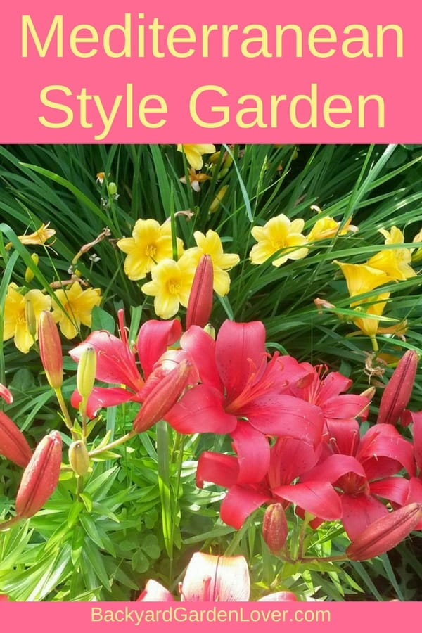 Create a stunning Mediterranean style garden for your home's landscape. Plants like lilies, Stella D'oro, morning glories, phlox, corn flowers, and others can be included in your front yard garden or patio to creat the design you wish. Here are just a few ideas with picture for inspiration.