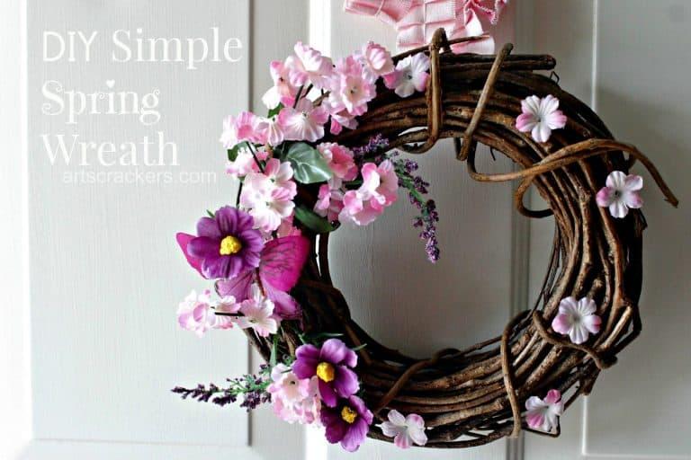 Twig spring wreath