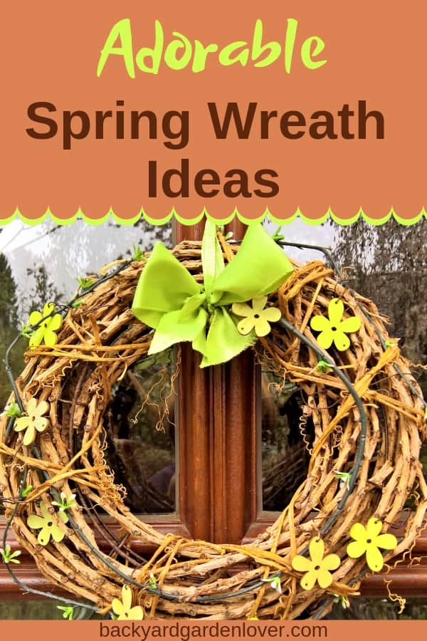 Get your front door ready for spring with one of these adorable spring wreath ideas. Lots of easy DIY options: rustic, floral or modern, there are unique ideas for everyone. Add some ribbons or tulle if you want a frilly wreath, or twigs and branches if you'd rather have a more natural look. #wreath #frontdoorwreath #spring #wreaths #cutewreath #springwreath #diy #springproject #curbappeal