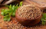 A bowl of coriander seeds