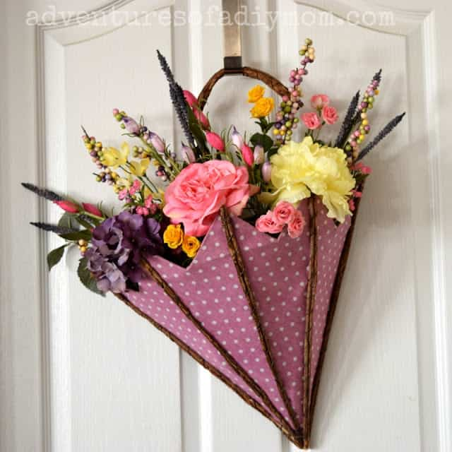 Spring decor for the front door
