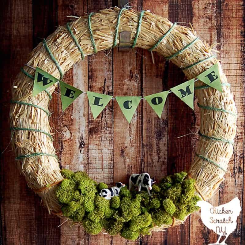 Spring farm wreath