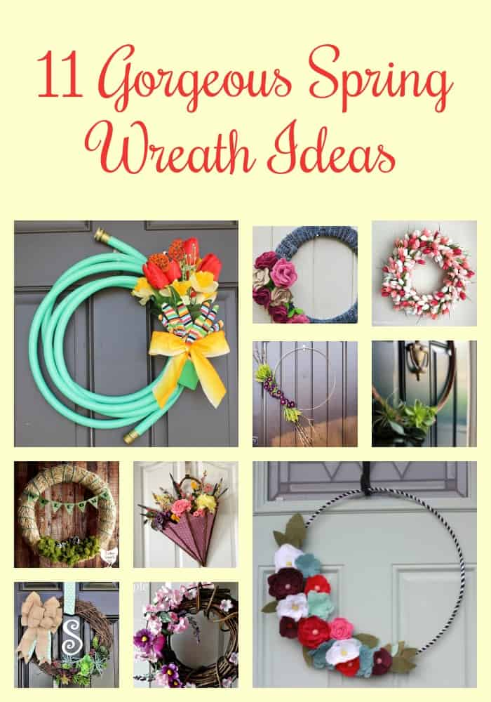 Get out of the winter blues with one of these cheery DIY spring wreaths for the front door. These spring wreath ideas are simple to make and will brighten your day for sure.