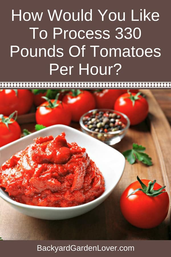 That's kind of a silly question to ask, but if you use the Spremy electric tomato strainer to puree your tomatoes, you can. Just imagine how much work it can save you. Easily process all your tomatoes and make lots of tomato puree and sauces in one afternoon. #tomatopuree #tomatoes #canning #harvest #homesteading #electrictomatostrainer