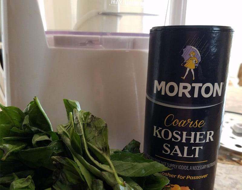 Homemade flavored salt ingredients