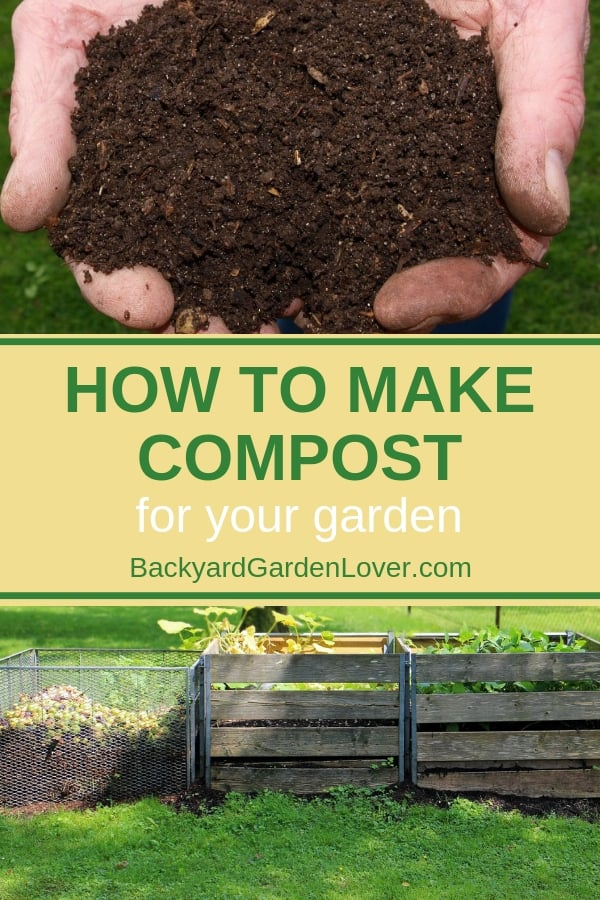 Wonder how to make compost for your garden? These simple tips will help you decide which composting method is best for you: cold or hot composting, using a rotating composter, or a wood bin. Gardening is so rewarding: enjoy delicious food grown at home. #gardeningtips #organicgardening #compost #composting #growfood #organicgarden #blackgold