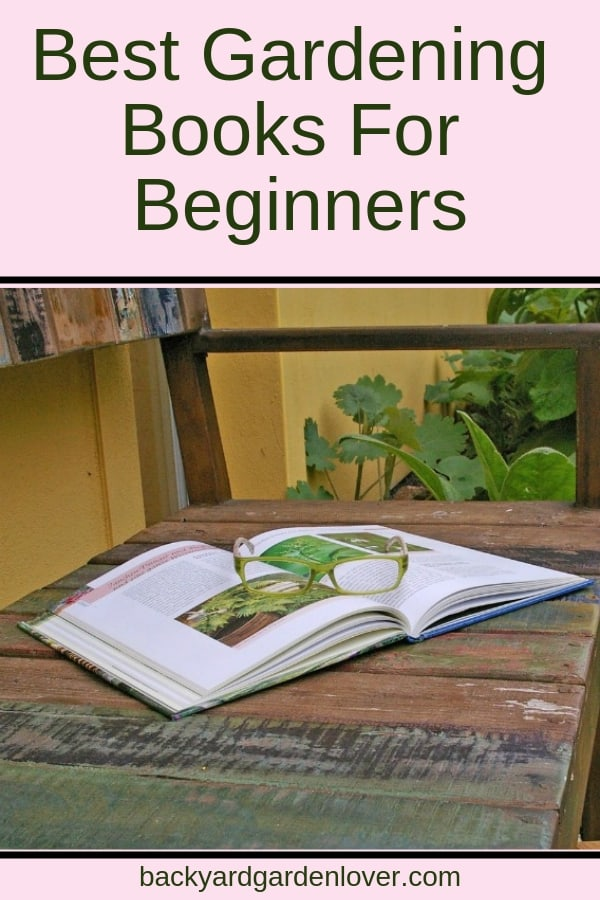A gardening book on a wooden table