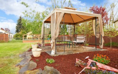 Backyard pop up gazebo