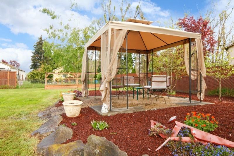 Backyard pop up gazebo