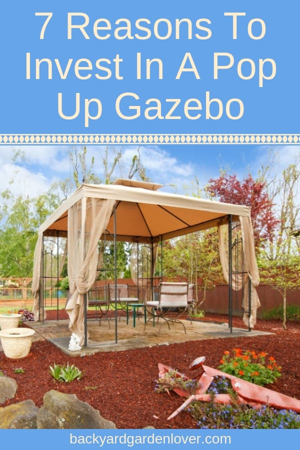 If you like spending time outdoors, here are 7 reasons to invest in a pop up gazebo. You'll love the versatility of these portable gazebos and your family will enjoy spending time together no matter what the weather is like. #gazebo #popupgazebo #backyard #backyardactivities #summertime #familytime #backyardfun