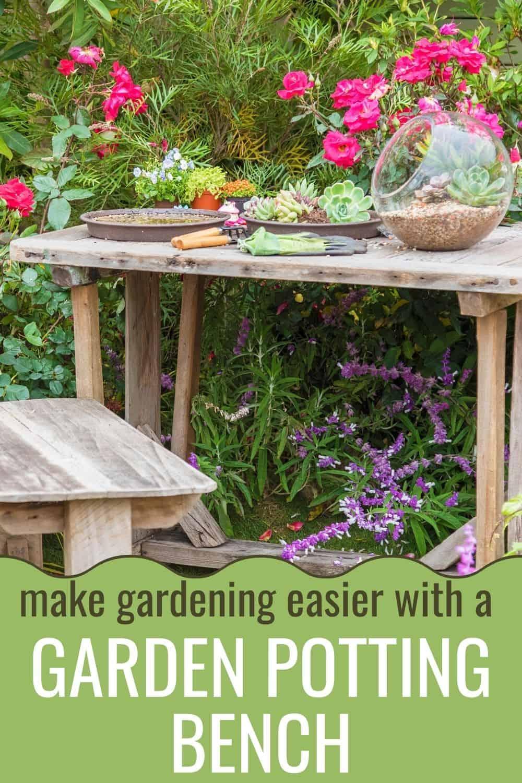 Make gardening easier with a garden potting bench