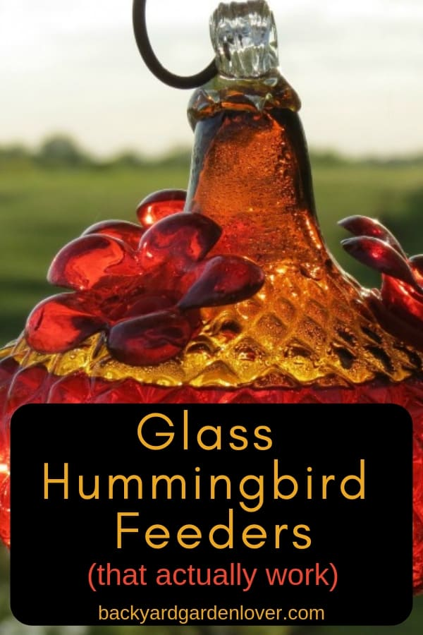 glass humminbird feeder