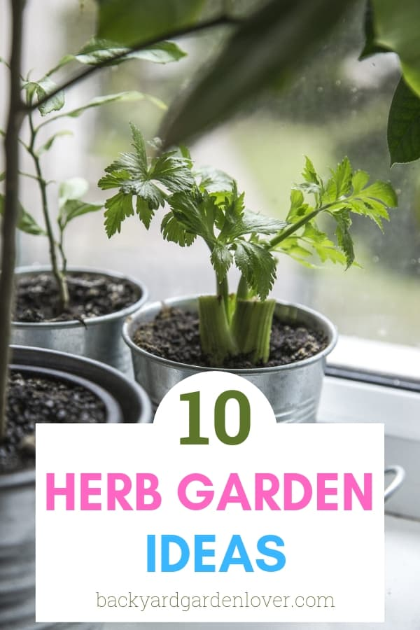 Want an easy to maintain herb garden? These 10 examples include simple ideas for both outdoor and indoor herb gardens. No space? Add a cute herbs collection to your windowsill, or on your kitchen counter. If you prefer to take your plants outdoors, choose small planters for your balcony or porch, and plant some herbs along your garden edges. Take a look here for some inspiration. #herbs #herbgarden #containerherbgarden #gardening #herbgardenideas #smallgardenideas #kitchenherbs #medicinalherbs