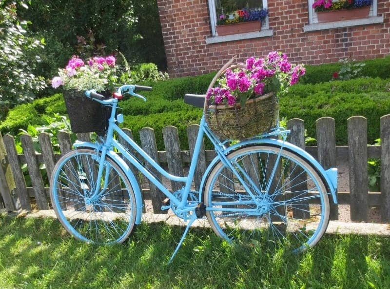 Bike flower container