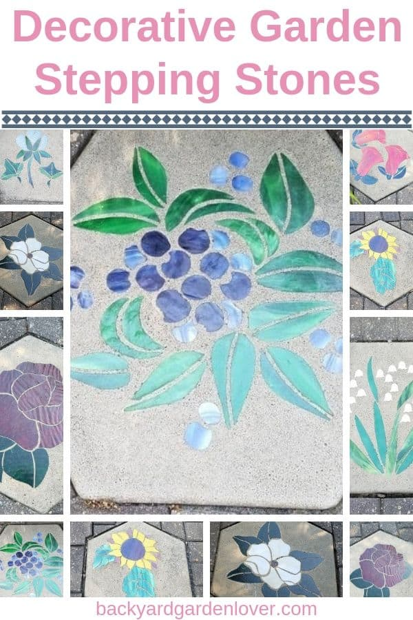 Add a bit of personality and fun to your garden by adding some decorative garden stepping stones. Find lots of ideas for inspiration here! #gardenart #steppingstones #gardendecorations #gardendecor # gardenfun #decorativesteppingstones
