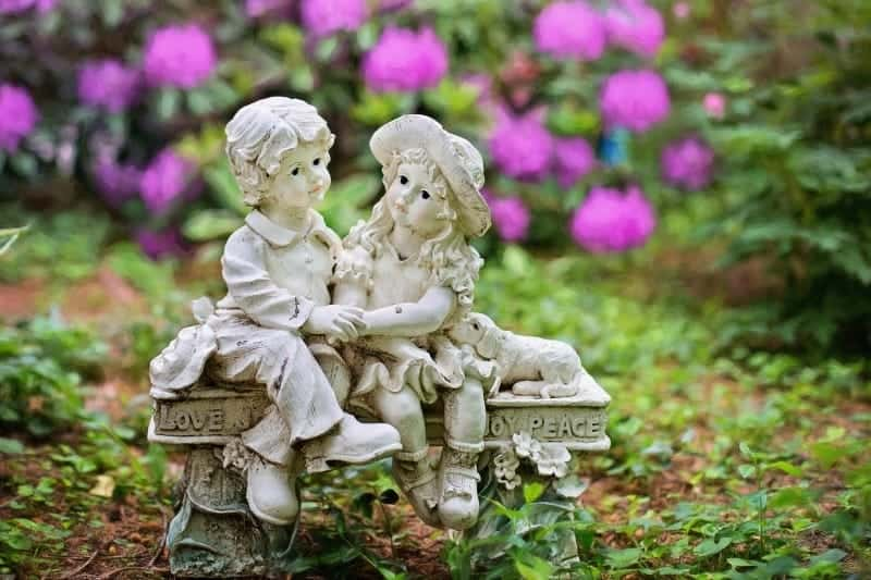 Romantic garden statue