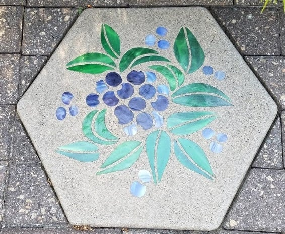 Beautiful garden stepping stone